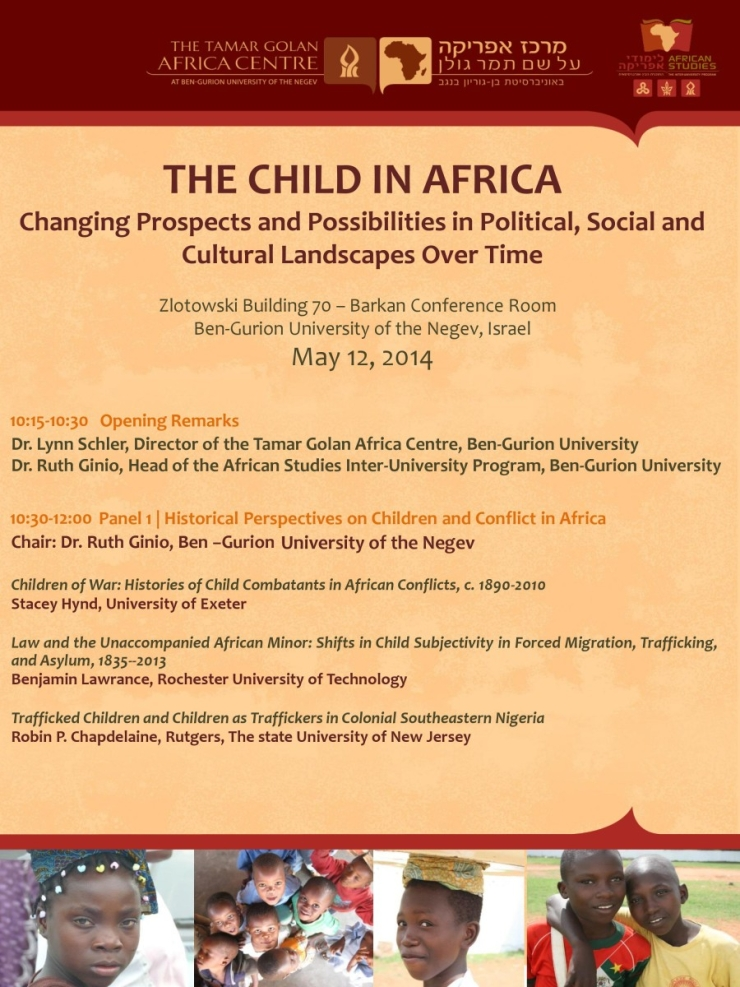 The Child in Africa: Changing Prospects and Possibilities in Political, Social and Cultural Landscapes Over Time – An international conference